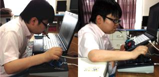 画像:パソコン作業環境の調整